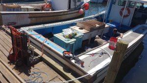 polishing fuel on boat